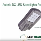 New DLC Listed LED Streetlights Astoria DX