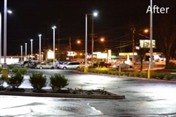 Rockwood Plaza Lightens Up with LED Trail's Astoria DX Streetlights