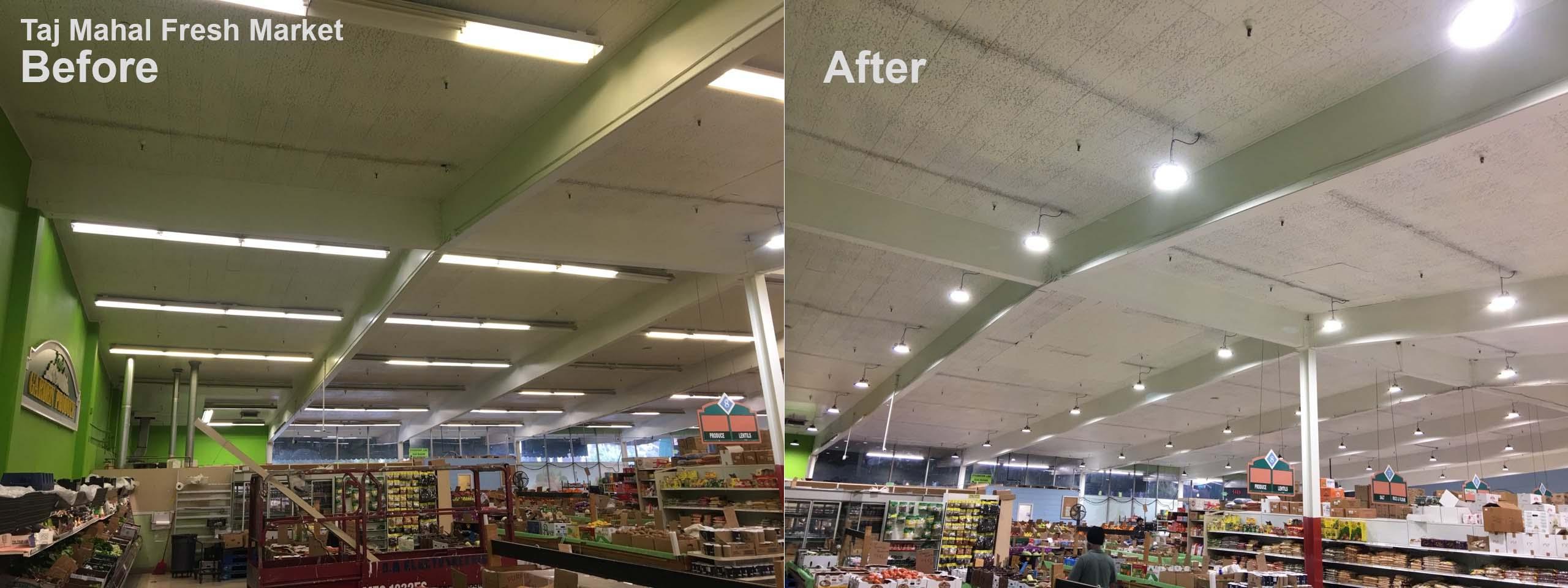 Supermarket Lighting Design Taj Mahal Fresh Market